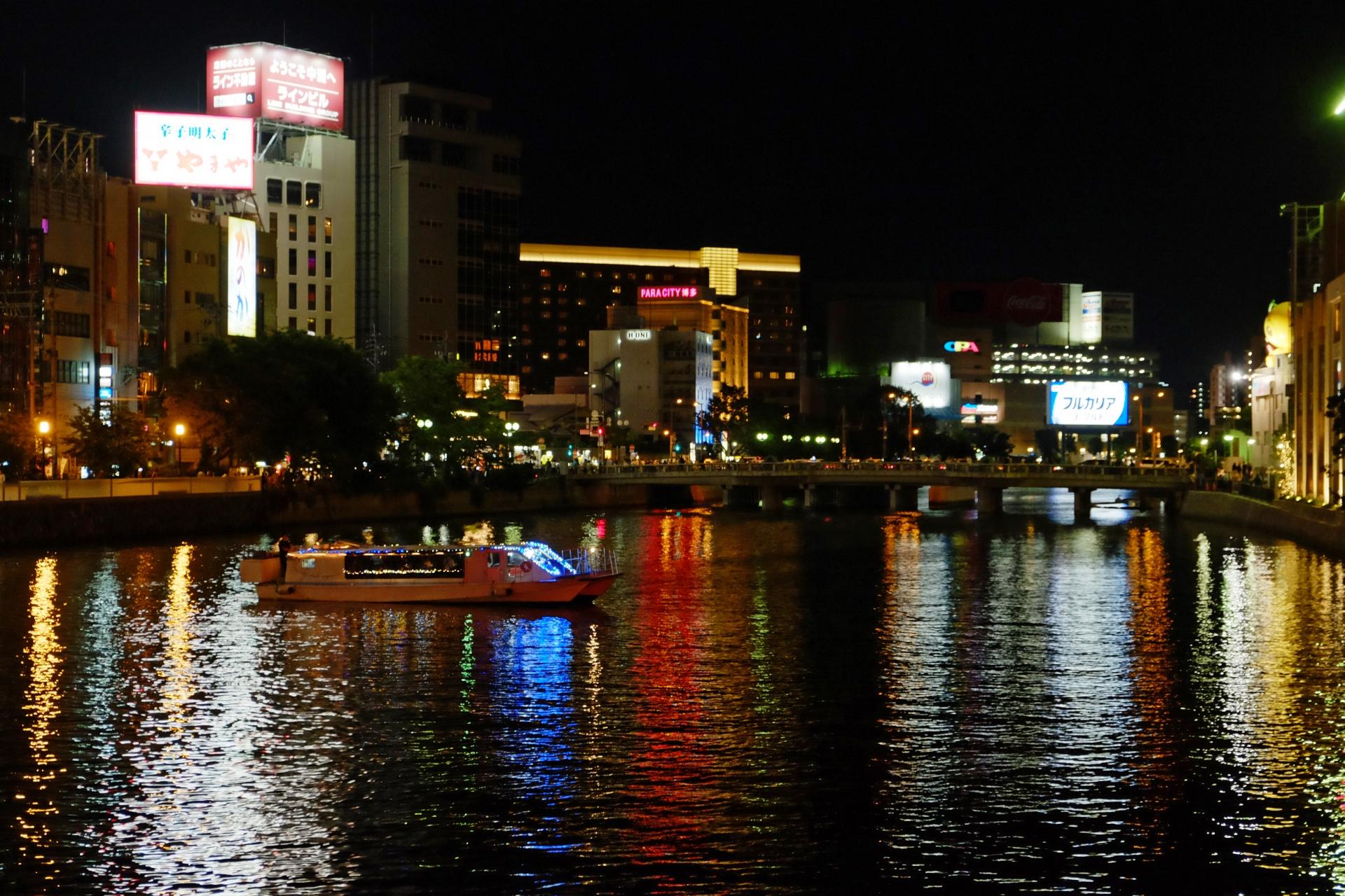 千年夜市 中洲の夜景